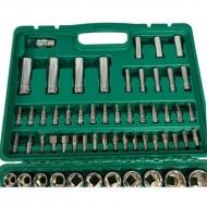Set chei tubulare cu clichet si prelungitor 94 elemente VERKE V39060