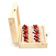 Set de 12 freze pentru lemn diferite profile KraftDele KD10282 8mm