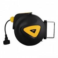 Tambur retractabil pentru cablu electric automat 15 m + 1,5 m PRO-E 15