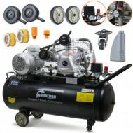 Compresor de aer industrial 3 cilindri 12.5 bari 600 l/min 100L 400v B-SLGS12 - KO100L