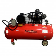 Compresor de aer industrial 300L 1460l/min 3 cilindri 9.6kW 400V KD1411 Kraftdele