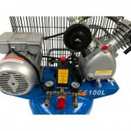 Compresor de aer vertical 100 litri, 2 cilindri 3kW, 220V VERKE V81110
