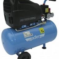 Compresor industrial 25 litri, 1 cilindru fara ulei, ADLER MA3605.25