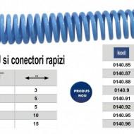 Furtun spiralat conectori aer comprimat din PU 8 x 5mm; 10m; 12-37 bari. ADLER AD0140.81