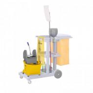 Găleată profesional pe roți pentru curățenie 24 L cu presă mop Ulsonix