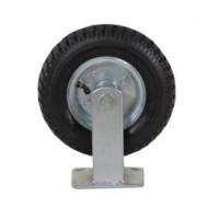 Roata fixa din cauciuc placa metalica carucioare 210 mm KD456 KraftDele