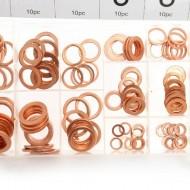 Set saibe din cupru diferite dimensiuni 150 elemente KraftDele KD10503