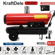 Tun caldura cu motorina cu TERMOSTAT -35kW KraftDele KD11714