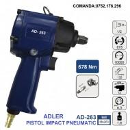 "Pistol Impact pneumatic 678Nm 6.3 bari 1/2"", ADLER AD-263 Profesional"