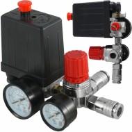 Presostat compresor aer + supape 20A 230V 3-10 bari VERKE V81202