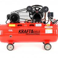 Compresor de aer industrial 150 L, 640 l/min 3.81 kW, 400V KraftDele KD406
