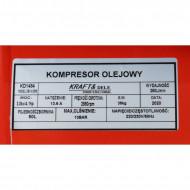 Compresor de aer industrial 50litri, 3kW, 2 cilindri 320l/min KraftDele KD1484