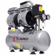Compresor de aer profesional fara ulei 6L 8bari 550W 150 l/min 60dB TA302 TAGRED