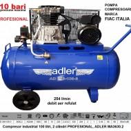 Compresor industrial 100 litri, 2 cilindri PROFESIONAL, ADLER MA3630.2
