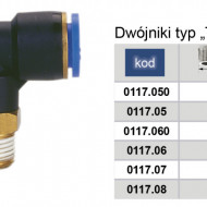 "Conector PB (tip T cu filet) 6mm 1/4"" MA0117.05"