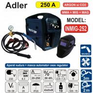 Kit sudura MIG si MMA PROFI 250A Ar/CO2 Masca LCD Reductor gaz ADLER