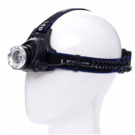 Lanterna frontala de cap T6 LED zoom 1-2000x 18A KD1244 KraftDele