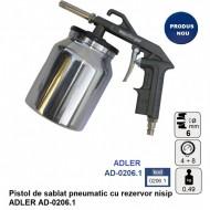 Pistol de sablat pneumatic cu rezervor nisip ADLER AD-0206.1
