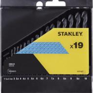 Set de burghiu HSS-R PENTRU METAL 19 BUC: 1-10 mm V STA56025-QZ STANLEY