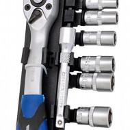 """Set de chei tubulare cu clichet 12 elem. 1/4"""" 5-14mm ADLER MA3553.1"""