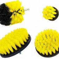Set de perii curatare pentru bormasina 4 elemente KD10995 Kraftdele