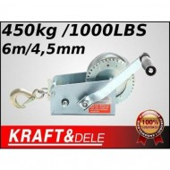 Troliu Manual 450 kg  1000 LBS -6m 4,5 mm KD1120 TBC