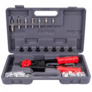 Trusa cu dispozitiv de nituire manual M3-M10 330mm 110 elemente KD10556 Kraftdele
