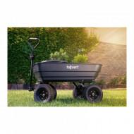 Carucior de gradina 350kg 125L HT-Q.BASS-125G Hillvert 10090076