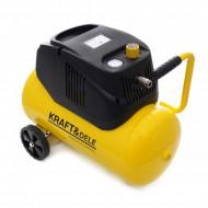 Compresor fara ulei 24L 8bar 1.1kW 180L/min ultrasilentios KD1416 KraftDele