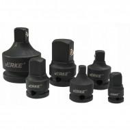 Set adaptoare pentru chei de impact 6 elemente VERKE V39450
