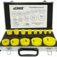 Set carote bi-metal 17 piese, geanta, 19-76mm V05090 Verke