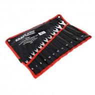 Set chei fixe + inelare combinate 12piese 6-22mm KraftDele KD10931