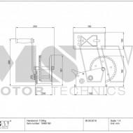 Troliu Manual 1130 kg / 2500 LBS lungime 10m 5mm PROPULLATOR 2500MH