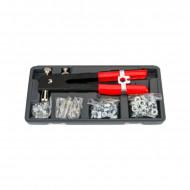 Trusa cu dispozitiv de nituire manual M3-M8 106 elemente KD10555 Kraftdele