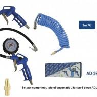 Set aer comprimat, pistol pneumatic , furtun 6 piese ADLER AD-26Z