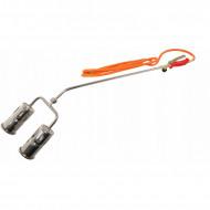 Arzator de gaz dublu 2x60mm 1850 grade 2x20kW V07454 VERKE
