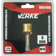 Carota diamantata pentru piatra, gresie si beton 6mm M14 V05106 Verke