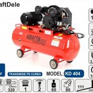Compresor de aer industrial 100 L, 2 cilindri, 3.4 kW, 400V KD404