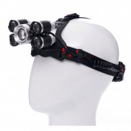 Lanterna frontala de cap T6 led cu 4x Q5 zoom 1-2000x 18A KD1248 KraftDele
