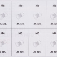 Piulite nituri din otel si aluminiu M3 M4 M5 M6 M8 M10 300 buc. TA4093