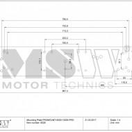 Placă de montare pentru trolii auto - 920 x 185 mm PROMOUNT-9500/13500