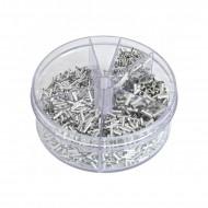 Set 1900 cuple de cablu (mufa) cositorire 0,5 - 2,5 mm2 KD10495 KraftDele
