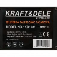 Slefuitor de banc cu panza verticala si disc 550W KraftDele KD1731