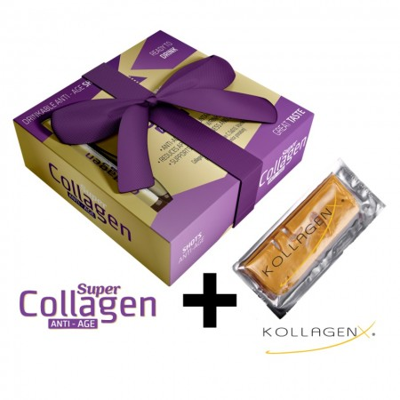 Slika Super Collagen Anti Age + Kollagen X 24kt zlatna maska za lice