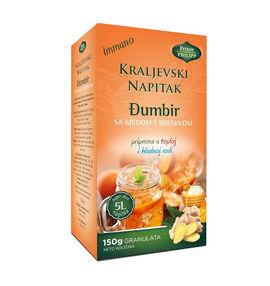 Immuno ''Kraljevski napitak'', ginger drink (honey and peach)