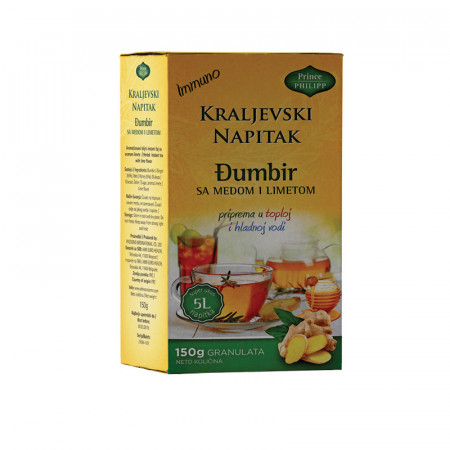 """''Kraljevski napitak'', (""""Royal drink"""") ginger drink with honey and lime"""