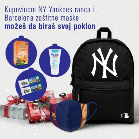 New York Yankees New Era Ranac i FC Barcelona Zaštitna maska + Poklon Po Izboru