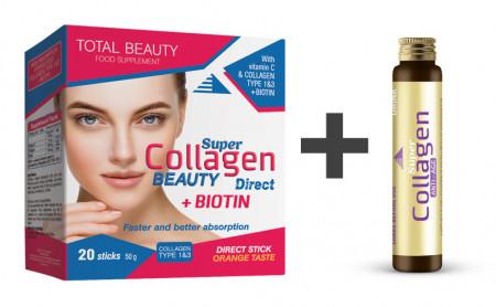 Super Collagen Beauty Direct (20 kesica) + Super Collagen Anti Age Shot GRATIS