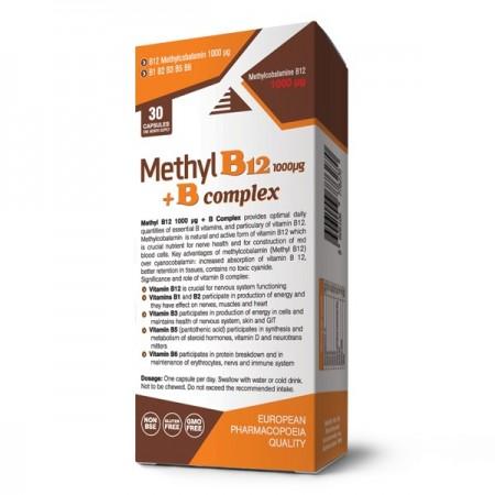 Methyl B12 1000 µg + B complex, vitamin B12