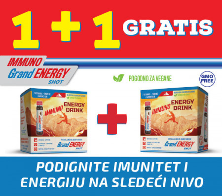 Immuno Grand energy shot, napitak za jačanje imuniteta -1+1 GRATIS